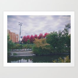Fall in Chicago Art Print