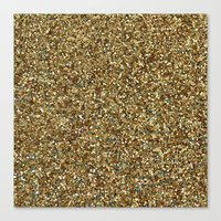 gold glitter Canvas Prints featuring Gold Glitter by Katieb1013
