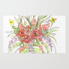Delicate Floral Spray Rug