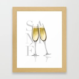 Sante Framed Art Print