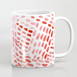 Watercolor dotted lines - red Coffee Mug