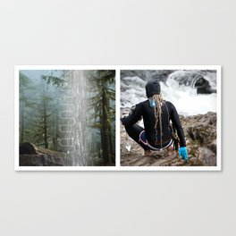 The Approach Waterfall Diptych Canvas Print