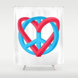 Peace + Love Shower Curtain