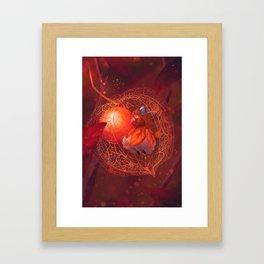 lantern cradle Framed Art Print