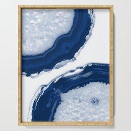 Blue Agate #4 #gem #decor #art #society6 Serving Tray