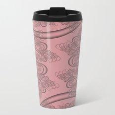 Blush Fractal Metal Travel Mug