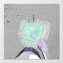 Tulip Grid White Canvas Print