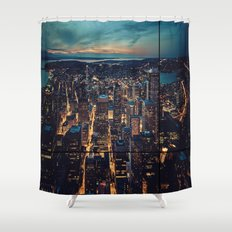 Skyscrapes-City View Shower Curtain