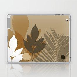 Silhouette leaves in brown and beige Laptop & iPad Skin