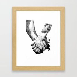 Human Nature: Hands Framed Art Print