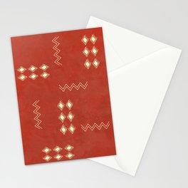 Burnt Orange Tribal rug Stationery Cards