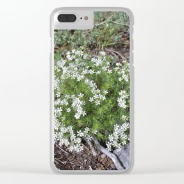 Forest Wildflowers Clear iPhone Case