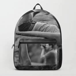 All You Really Need Is Someone To See the Psycho You Really Are - Girl with a Camera looking at the world upside down art photography Backpack