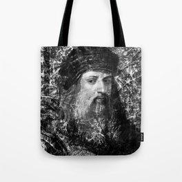 LEONARDO DA VINCI (BLACK & WHITE VERSION) Tote Bag