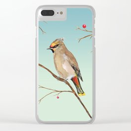 Bohemian waxwing Clear iPhone Case