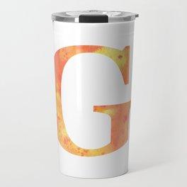 Letter G in Warm Tones Travel Mug