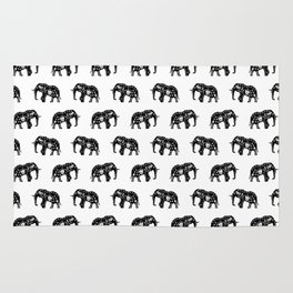 Cool Africa Pattern Elephant Picture Rug