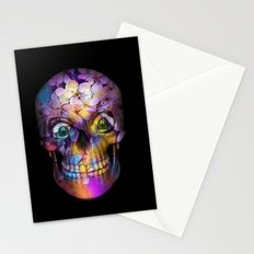 Amazing Floral Skull A Stationery Cards