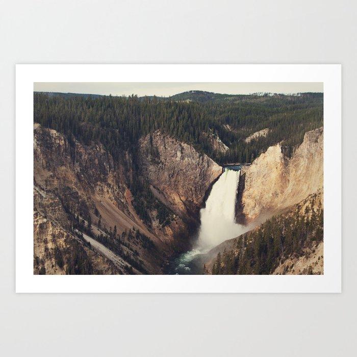 Yellowstone Canyon Waterfall Art Print