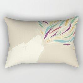 The Harlequin's Wolf Rectangular Pillow