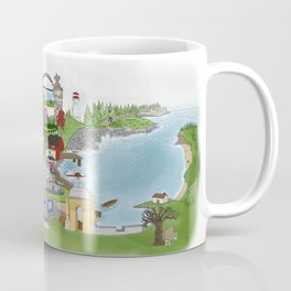 Louisbourg Illustrated in Color Coffee Mug