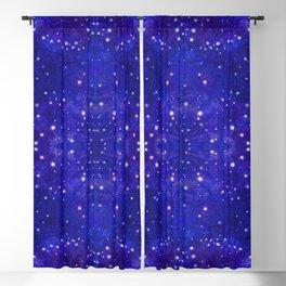 Fractal Galaxy Blues Blackout Curtain