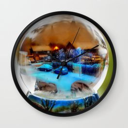 Christmas Globe! Wall Clock