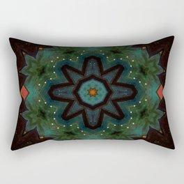 Ivy on the Iron Gate // Visionary Art Mandala Energy Meditation Yoga Bohemian Boho Witchy Decor Rectangular Pillow