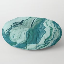 Blue Planet Marble Floor Pillow