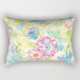 Watercolor spring pattern Rectangular Pillow