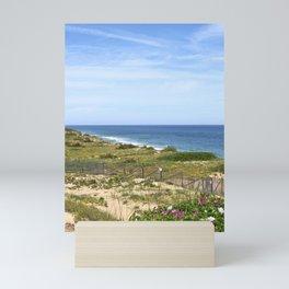 Seaside Dunes Rise Above the Ocean on Cape Cod Mini Art Print