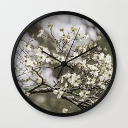 Spring Botanical -- White Dogwood, 2016 Wall Clock