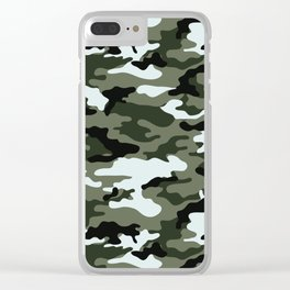Modern Urban Military Camouflage Seamless Pattern Clear iPhone Case