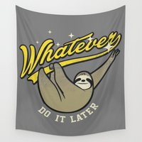 whatever Wall Tapestries featuring Whatever by Mathiole