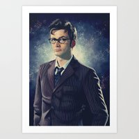 david tennant Art Prints featuring David Tennant - Doctor Who 2 by KanaHyde