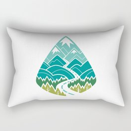 The Road Goes Ever On : Spring (white) Rectangular Pillow