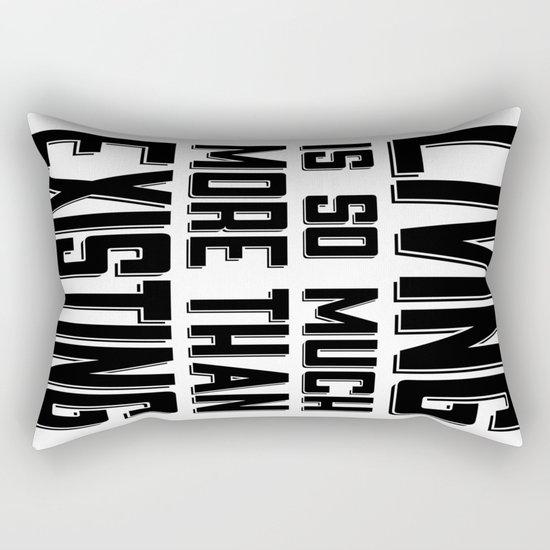 Living & Existing two Rectangular Pillow