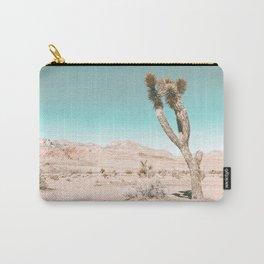 Vintage Desert Scape // Cactus Nature Summer Sun Landscape Photography Carry-All Pouch