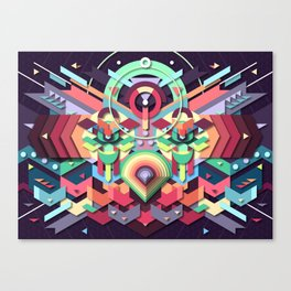 BirdMask Visuals - Owl Canvas Print