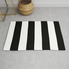 Black and White | Vertical Large Stripes Rug