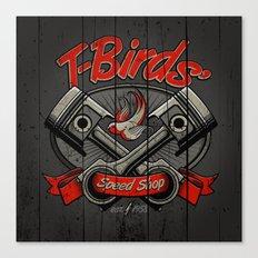 T-Birds Sign Canvas Print