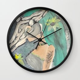 UNICORNS AND DAISIES Wall Clock