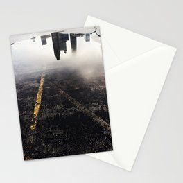 Reflection of Chicago in a Puddle Stationery Cards