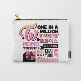 TWICE Font Collage Carry-All Pouch