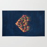 interstellar Area & Throw Rugs featuring Interstellar Heart II by VessDSign