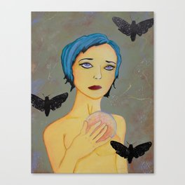M@donna of the night moth Canvas Print