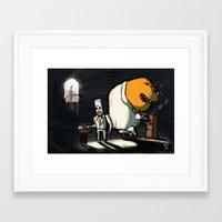 grim fandango Framed Art Prints featuring Use Verb on Noun #11: Grim Fandango by Jón Kristján Kristinsson