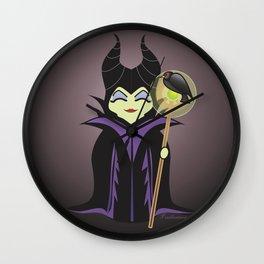 Kokeshi Maleficent  Wall Clock