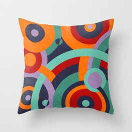 Colorful circles II Throw Pillow