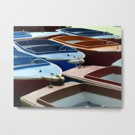 Boats On A River Metal Print